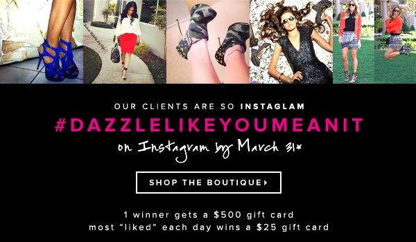 Enter Our Instagram Contest by March 31...Our Winner Gets a $500 Gift Card!