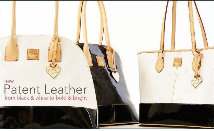 New Patent Leather from black & white to bold & bright