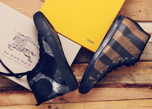 Men's Designer Shoe Shop: Fendi, Gucci, Burberry & More