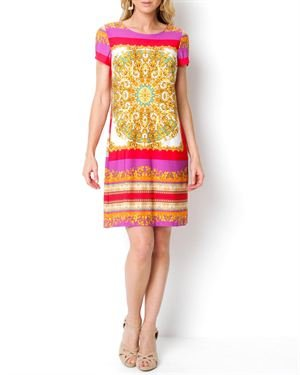 Gabby Skye Multicolor Printed Dress $29