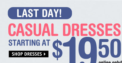 Oh-so cute Spring Dresses  STARTING AT $19.50