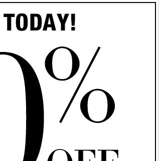 EVERYTHING IS 40% OFF, for a limited time only! Shop Now!