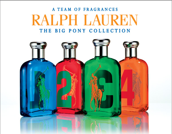 A team of fragrances Ralph lauren the Big Pony collection.