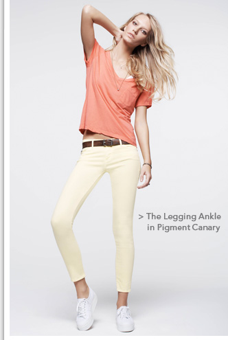 The Legging Ankle in Pigment Canary