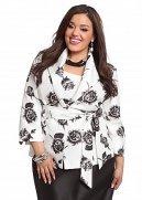Shantung Floral Print Belted Jacket