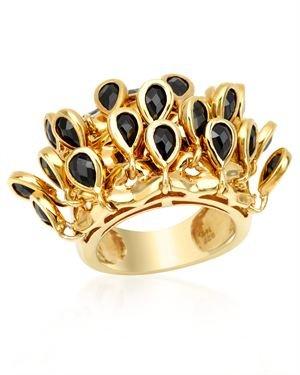 Premier Gems Sterling Black Spinel Ring