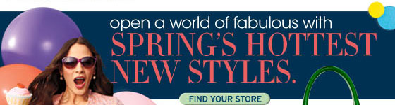 Open a world of fabuulous with spring's hottest new styles