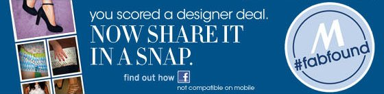 you scored a designer dea. now share it in a snap