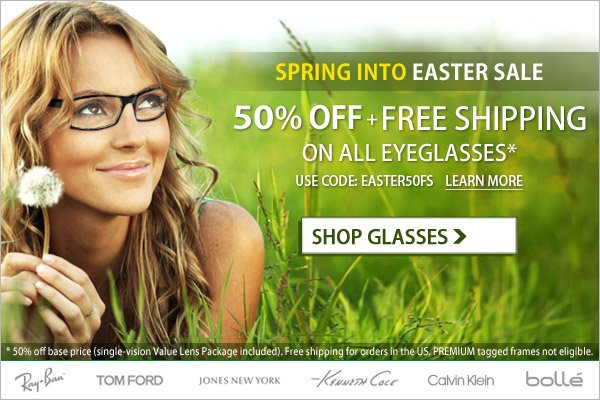 Spring into Easter Sale - 50% Off + Free Shipping!