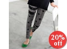Striped and Star Print Leggings