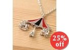 Horse, Eiffel Tower and Carriage Pendant Necklace