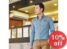 Button-Down Denim Shirt with Card Holder