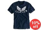 Short-Sleeve Eagle-Print T-Shirt