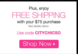 Free Shipping with your $75 purchase