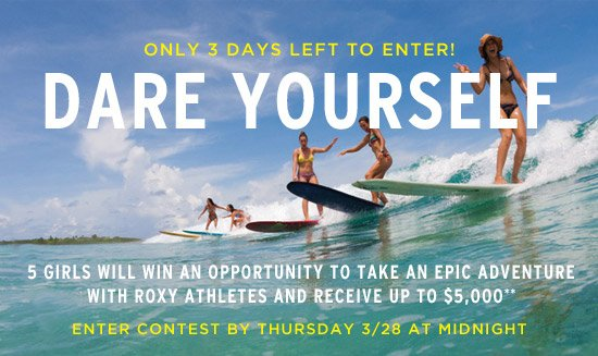 Only 3 days left to enter! Dare Yourself