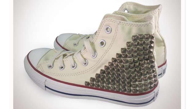 Bronze Studded Converse