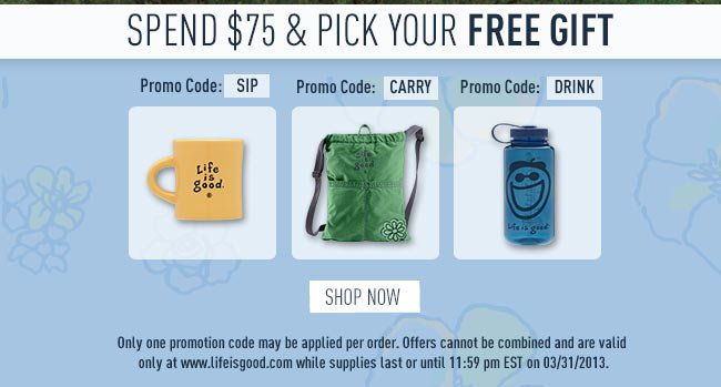 Spend $75 & Pick Your Free Gift