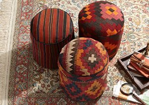 One of a Kind Turkish Poufs