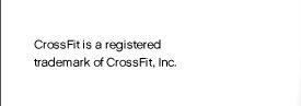 CROSSFIT IS REGISTERED