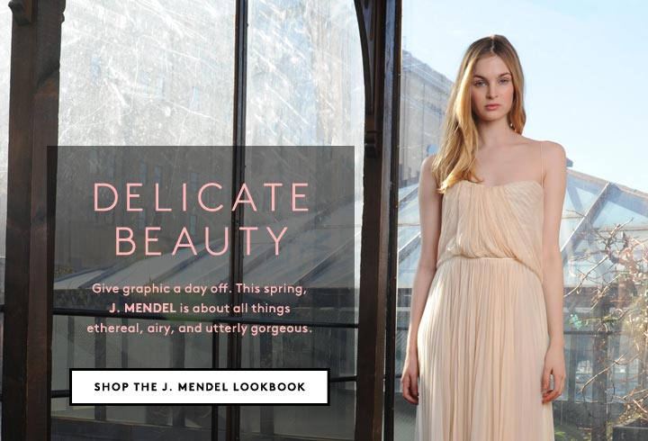 Perfectly pretty: Shop the dresses of the J. Mendel spring lookbook.