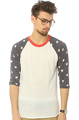 The Print Sleeve Baseball Tee in Stars