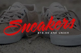 Sneakers 19.99 and Under