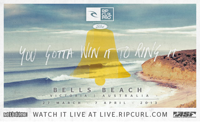 Rip Curl Pro Bells Beach - March 27 - April 7, 2013 - Bells Beach, Victoria, Australia - Watch Live at live.ripcurl.com