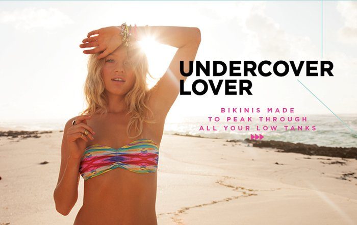 Undercover Lover - Bikinis Made to Peak Through All Your Low Tanks
