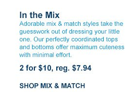 In the Mix 2 for $10, reg. $7.94 | SHOP MIX & MATCH