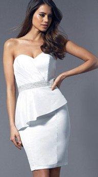Embellished Waist Bandeau Dress