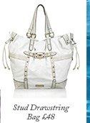 Stud Drawstring Bag