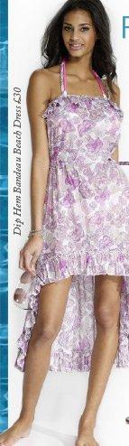 Dip Hem Bandeau Beach Dress
