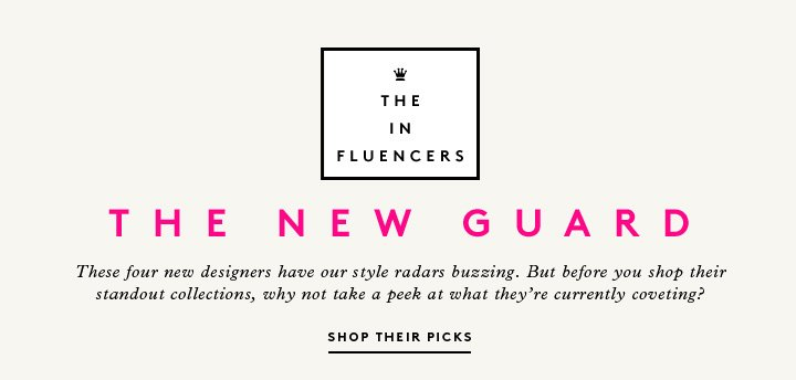 Under the influence: Shop personal Barneys picks from new designers Reece Hudson, Raif Adelberg, Betina Ocampo, and Rhié.
