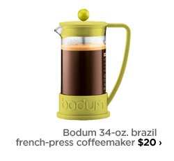 Bodum 34-oz. brazil french-press coffeemaker $20›