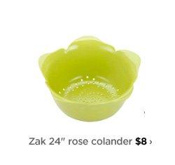 """Zak 24"""" rose colander $8›"""
