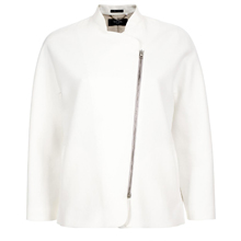 White Cropped Jacket