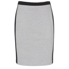 Grey Summer Pique Skirt