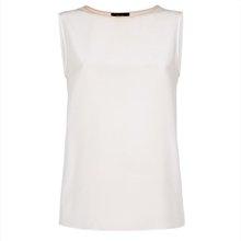 Cream Silk Vest Top