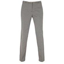 Grey Cotton Blend Pique Trousers