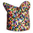 75 in. Happy Pixels Bean Bag Chair