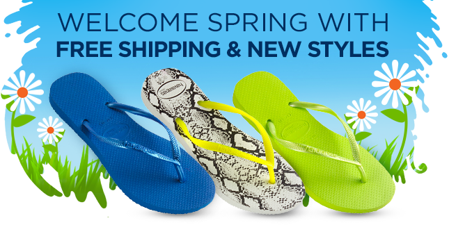 Welcome Spring with Free Shipping and New Styles