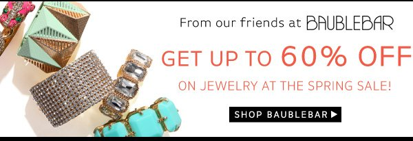 Shop Bauble Bar's Sale - Save 60% on Jewelry