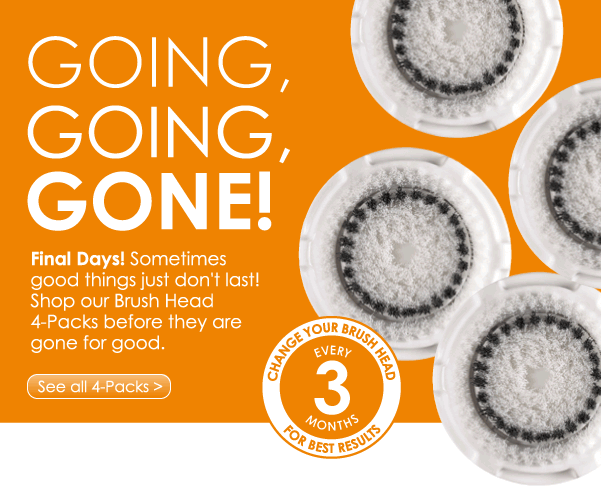 Going, Going, Gone! Final Days! Sometimes good things just don't last! Shop our Brush Head 4-Packs before they are gone for good. See All 4-Packs >