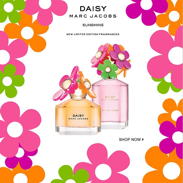Daisy Marc Jacobs Sunshine New limited edition fragrances. Shop now.