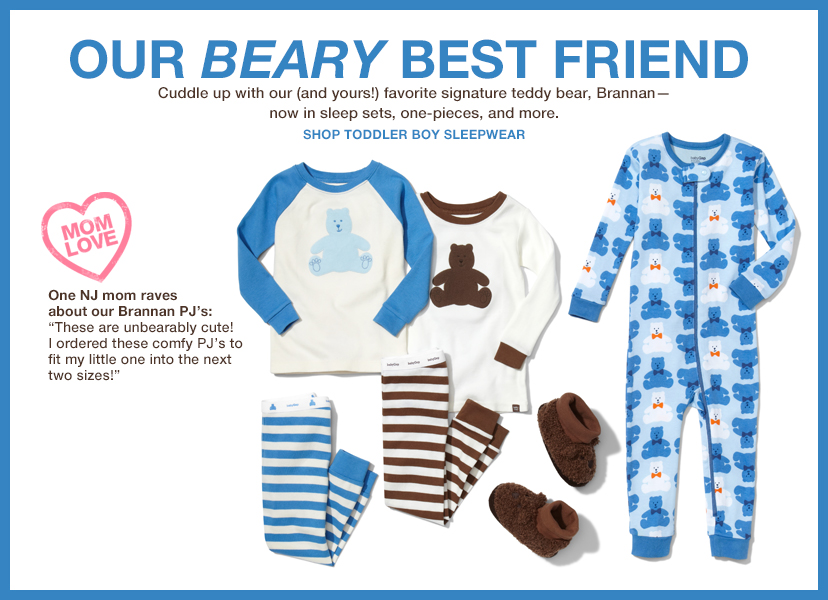 OUR BEARY BEST FRIEND | SHOP TODDLER BOY SLEEPWEAR