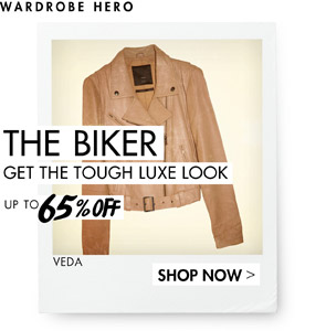 BIKER GET THE TOUGH LOOK UP TO 65% OFF