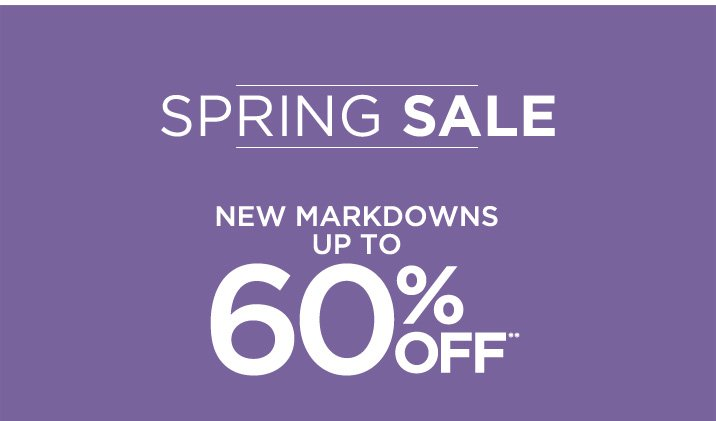 Spring Sale up to 60% Off**
