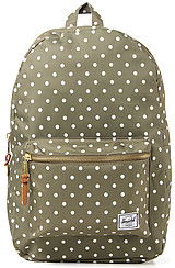 The Settlement Backpack in Olive Polka Dot