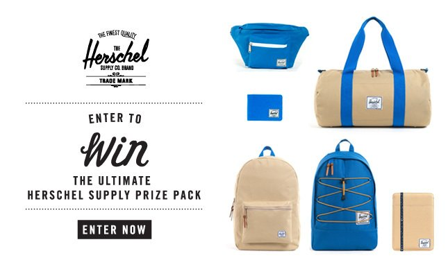 Enter to Win the Ultimate Herschel Supply Prize Pack