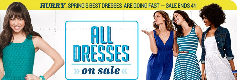 HURRY, SPRING'S BEST DRESSES ARE GOING FAST—SALE ENDS 4/1 | ALL DRESSES on sale